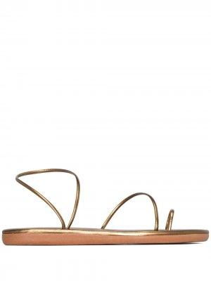 Сандалии Kansiz с ремешками Ancient Greek Sandals. Цвет: золотистый