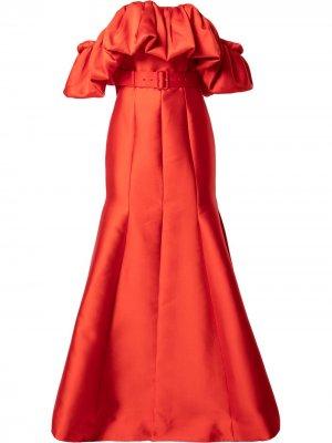 Платье макси Pyper Solace London. Цвет: красный