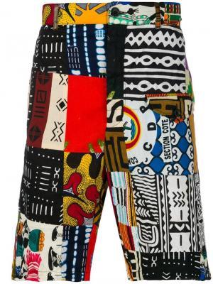 African patchwork shorts Engineered Garments. Цвет: разноцветный