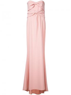 Длинное вечернее платье Boutique Moschino. Цвет: розовый