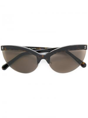 Солнцезащитные очки в оправе кошачий глаз Stella McCartney Eyewear. Цвет: 1301