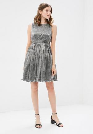 Платье Tantra. Цвет: серебряный