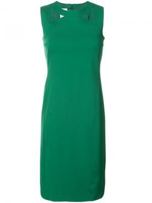 Платье с вырезами на груди Akris Punto. Цвет: зелёный