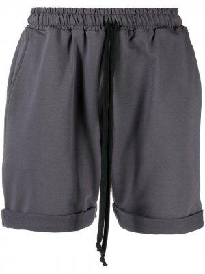 Спортивные шорты с завышенной талией Alchemy. Цвет: серый