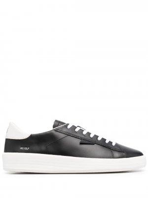 Кроссовки на шнуровке D.A.T.E.. Цвет: черный