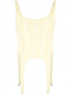 Топ-корсет с подвязками Dion Lee. Цвет: желтый