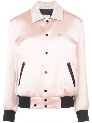 Куртка-бомбер Je Taime Saint Laurent. Цвет: розовый