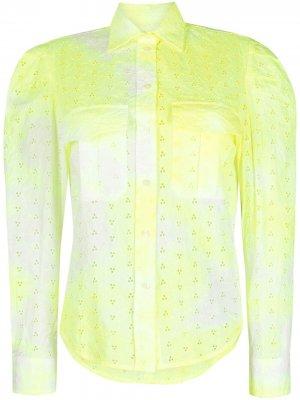 Рубашка с вырезами Forte Dei Marmi Couture. Цвет: желтый