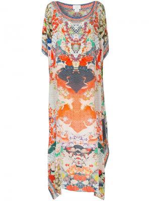 Платье-кафтан Geisha Girl Camilla. Цвет: разноцветный