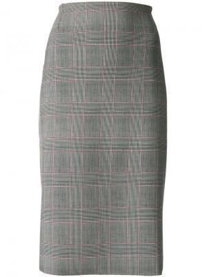 Check pencil skirt Le Petite Robe Di Chiara Boni. Цвет: серый