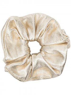 Резинка для волос с эффектом металлик Manokhi. Цвет: золотистый
