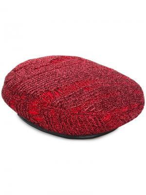 Cher metallic beret Eugenia Kim. Цвет: красный