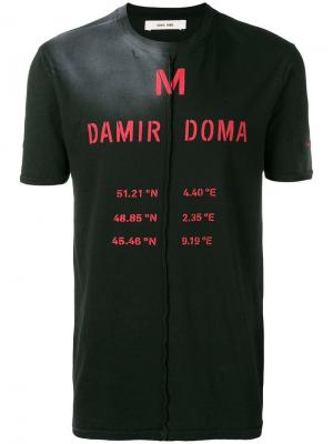Футболка с принтом логотипа выцветшим эффектом Damir Doma. Цвет: черный