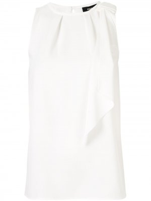 Блузка без рукавов с бантом Paule Ka. Цвет: белый