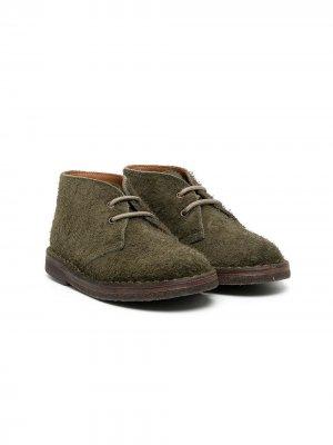 Ботинки дезерты Pèpè. Цвет: зеленый