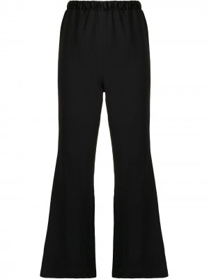 Укороченные расклешенные брюки Muller Of Yoshiokubo. Цвет: черный