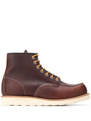 Ботинки Classic Moc на шнуровке Red Wing Shoes. Цвет: коричневый