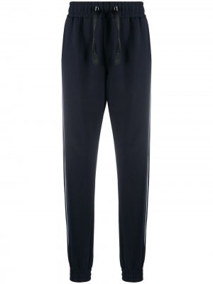 Спортивные брюки с вышивкой Billionaire. Цвет: синий