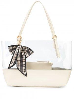 Прозрачная сумка-шопер Zac Posen. Цвет: белый
