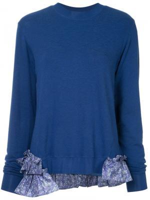 Longsleeved ruffle detailed jumper Clu. Цвет: синий
