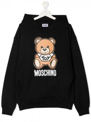 Худи с принтом Moschino Kids. Цвет: черный