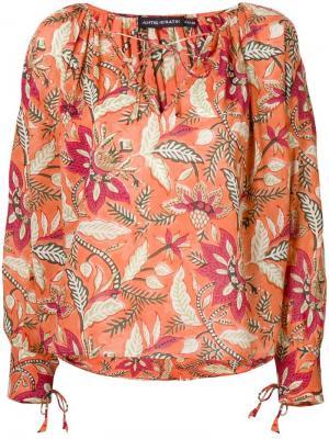 Блузка с цветочным принтом Antik Batik. Цвет: розовый