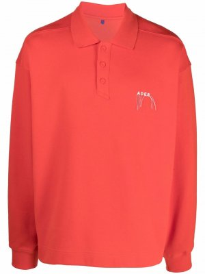Рубашка поло Needle с логотипом Ader Error. Цвет: оранжевый