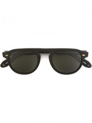 Солнцезащитные очки Harding Garrett Leight. Цвет: черный
