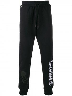 Спортивные брюки с вышитым логотипом Timberland. Цвет: черный