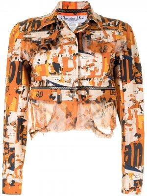 Укороченная куртка pre-owned Christian Dior. Цвет: оранжевый
