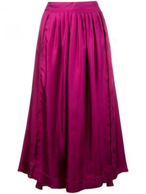 Расклешенная плиссированная юбка Alysi. Цвет: розовый