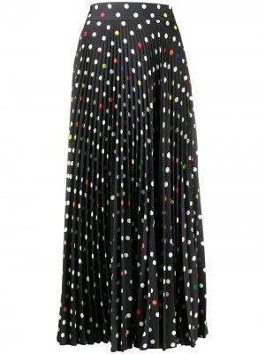 Плиссированная юбка макси в горох Christopher Kane. Цвет: черный