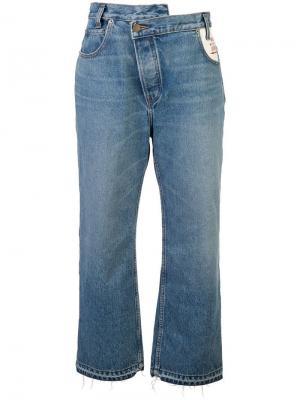 Широкие джинсы с высокой талией Monse. Цвет: синий