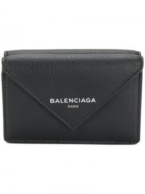 Бумажник Bal Papier Balenciaga. Цвет: черный