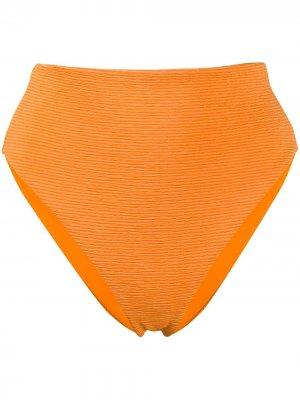 Фактурные плавки бикини с завышенной талией Mara Hoffman. Цвет: оранжевый