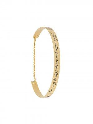 Tods браслет с гравировкой Tod's. Цвет: золотистый