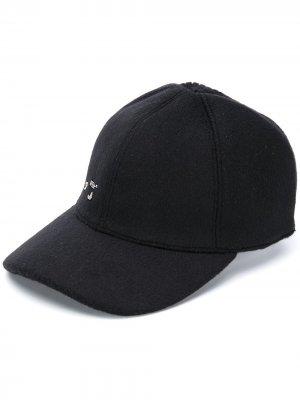 Бейсбольная кепка с логотипом металлик Off-White. Цвет: черный