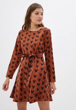 Платье Compania Fantastica. Цвет: коричневый