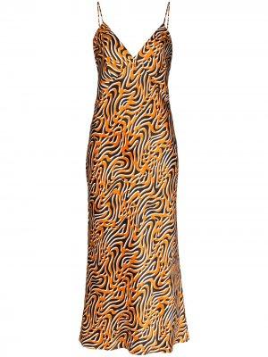 Ночная сорочка Issa Trance Olivia von Halle. Цвет: оранжевый