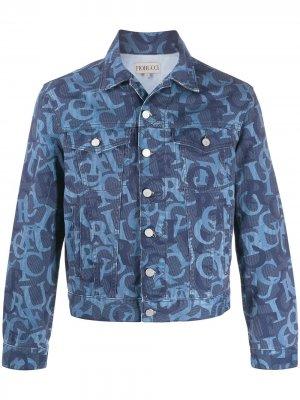 Жаккардовая куртка Nico с логотипом Fiorucci. Цвет: синий