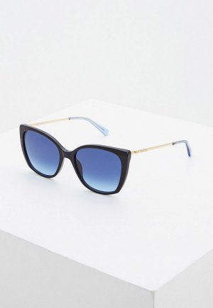 Очки солнцезащитные Love Moschino. Цвет: синий