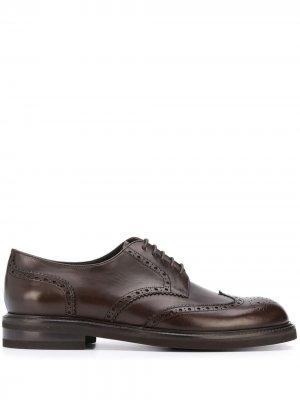 Броги на шнуровке Canali. Цвет: коричневый
