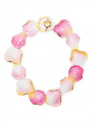 Разноцветное ожерелье LANVIN. Цвет: розовый