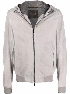 Легкая куртка на молнии Moorer. Цвет: серый