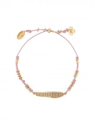 Tods браслет с подвеской Tod's. Цвет: розовый