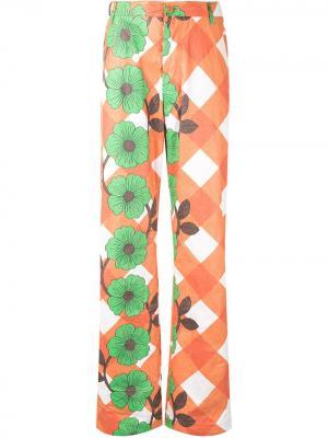 Широкие брюки Howl Walter Van Beirendonck. Цвет: оранжевый