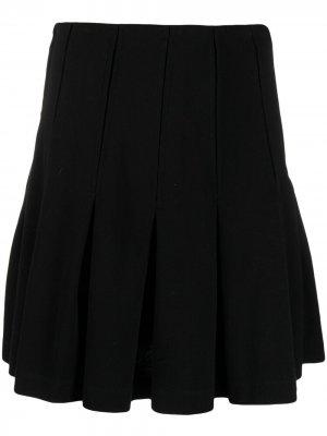 Юбка с баской Maison Kitsuné. Цвет: черный