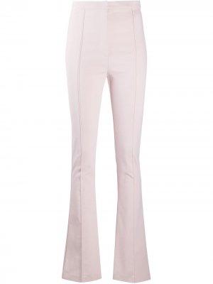 Расклешенные брюки с завышенной талией Patrizia Pepe. Цвет: розовый