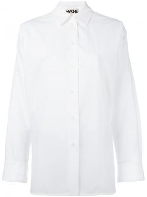 Рубашка бойфренда Hache. Цвет: белый