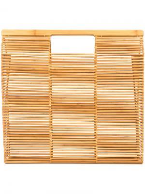 Пляжная сумка-тоут Cult Gaia. Цвет: коричневый